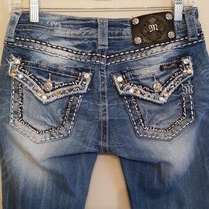 Miss Me ~ Embezzled Cuffed Capris Jeans